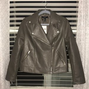 Forever 21 Gray Leather Jacket